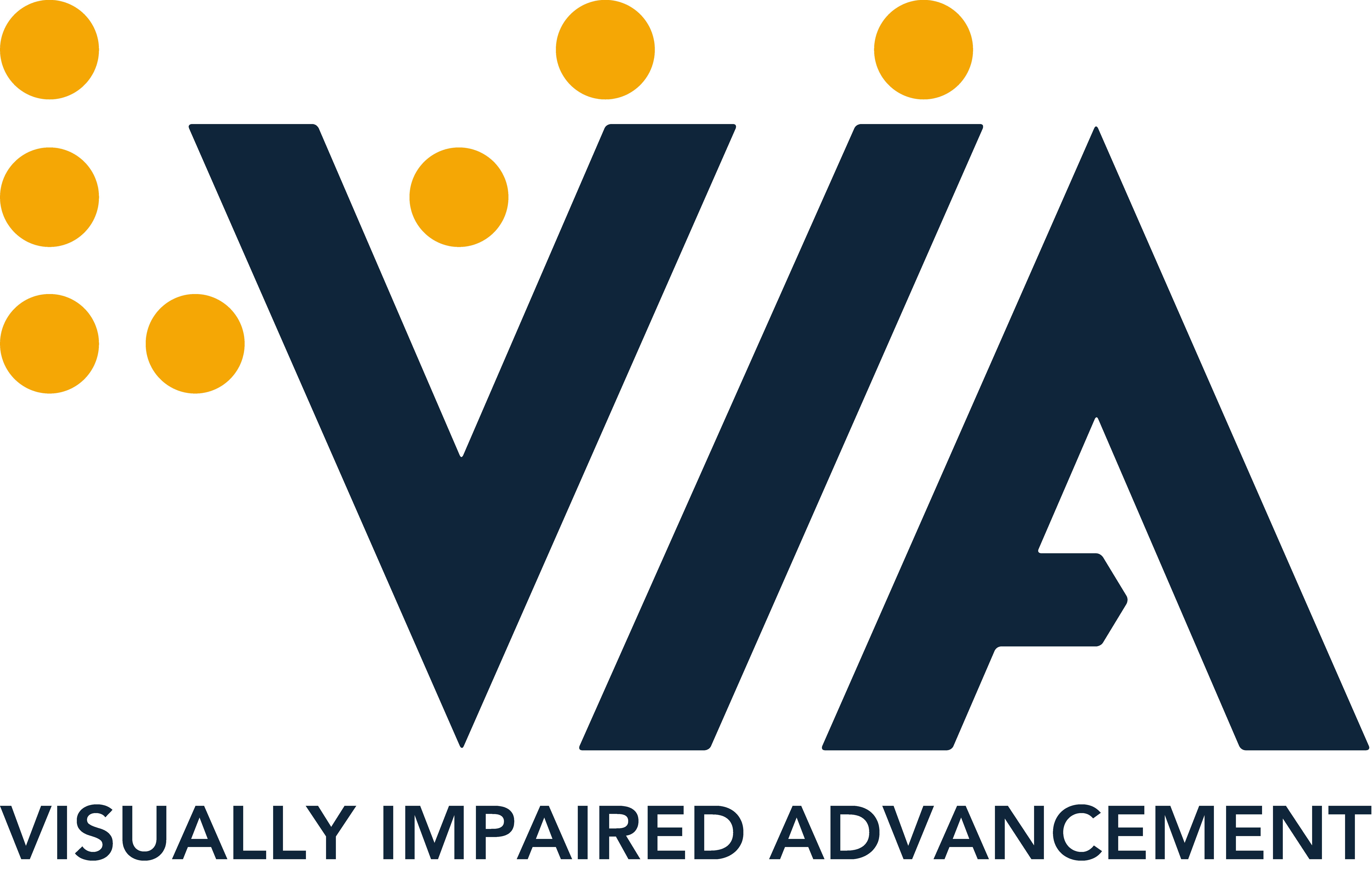VIA: Visually Impaired Advancement logo