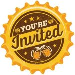 Your Invited beer cap graphic
