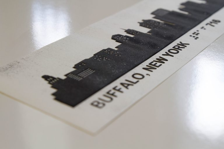 raised printed buffalo skyline picture