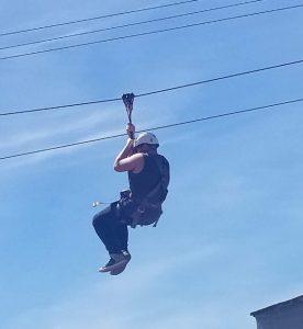 Via client ziplining